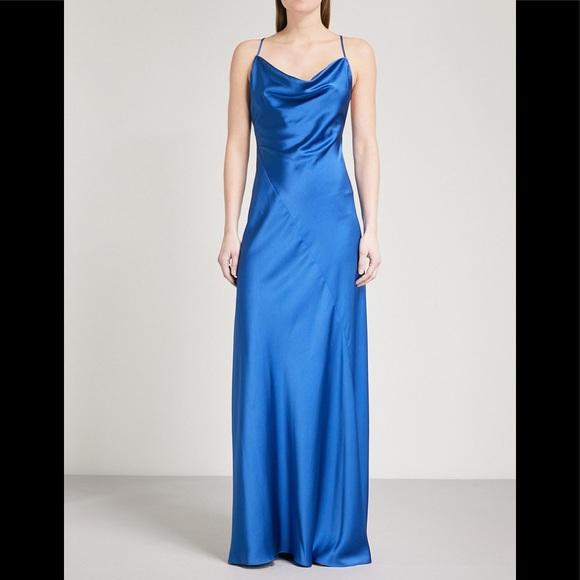 Diane Von Furstenberg Dresses & Skirts - Diane Von Furstenberg cowl neck satin gown